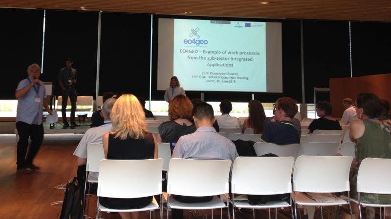 A presentation at the EO Summit in Leuven, Belgium