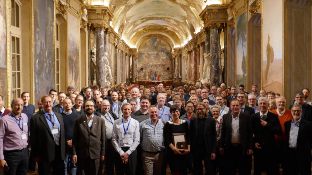 "OGC members at the Reception Hall ""Les Illustres"" at the Capitole de Toulouse, including 2019 Gardels Award winner, Linda van den Brink"