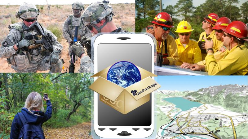 GeoPackage meets the geospatial data requirements of users in multiple domains, including defense and intelligence, emergency management, and outdoor recreation.