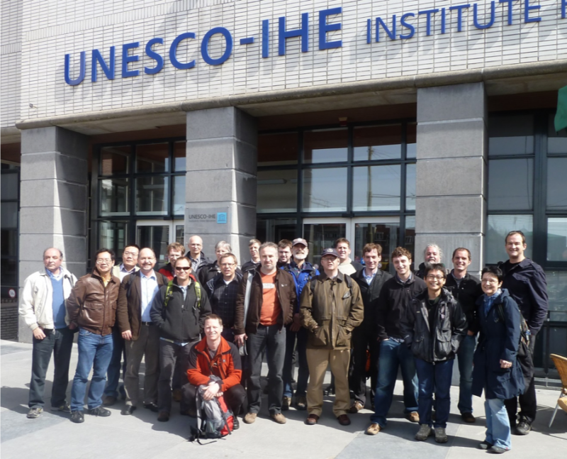 Attendees of the 2nd OGC/WMO Hydrology DWG Workshop - UNESCO-IHE, Delft, the Netherlands