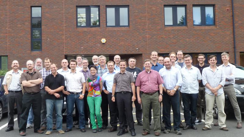 Attendees of the 3rd OGC/WMO Hydrology DWG Workshop, 2012 - University of Reading, Reading, UK.