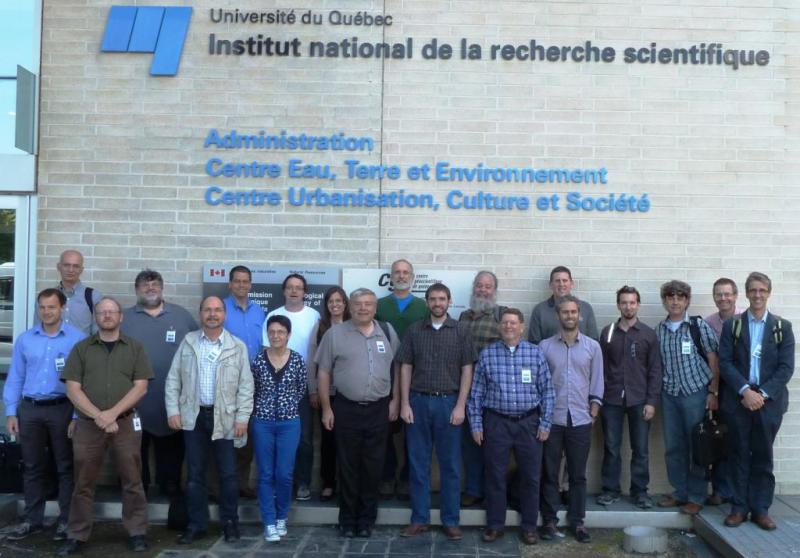 Attendees of the 4th OGC/WMO Hydrology DWG Workshop - Institut National de la Recherche Scientifique, Quebec City, Canada