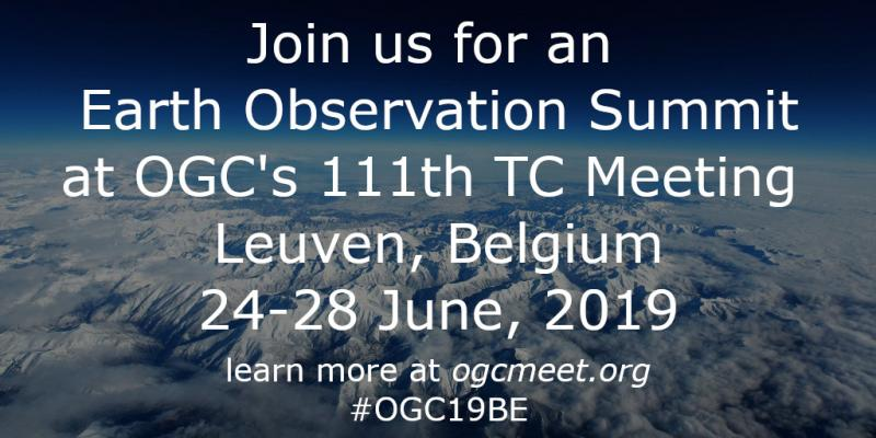 Earth Observation Summit at OGC's 111th TC Meetings