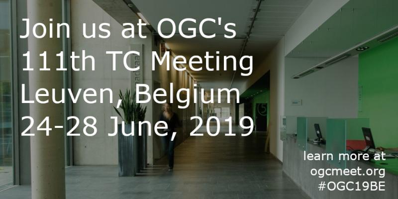 Join us at OGC's 111th TC Meeting in Leuven Belgium (click for full size download)