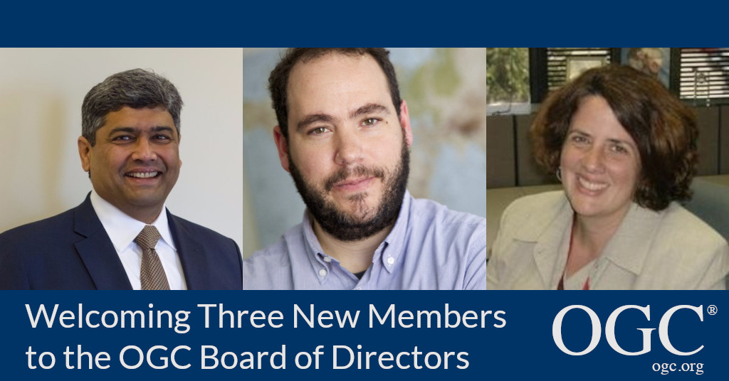 OGC Welcomes Patty Mims, Javier de la Torre, and Prashant Shukle to its Board of Directors
